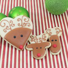 Rudolph the Red Nosed Reindeer*Lg made with heart cookie cutter
