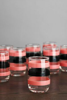 One-of-a-Kind Vintage Pink & Black Glassware