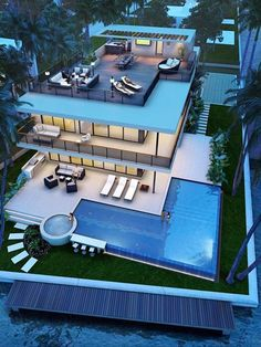 Best Ideas For Modern House Design & Architecture : – Picture : – Description Pompano Beach new construction Luxury Homes Dream Houses, Modern Mansion, Dream House Exterior, House Goals, Modern House Design, Modern House Exteriors, Exterior Design, Modern Architecture, Architecture Portfolio