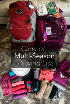 The perfect packing list for travelling carry-on only through multiple seasons!