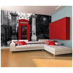 1Wall London Telephone Box Wallpaper Wall Mural Black White and Red 1 Wall http://www.amazon.co.uk/dp/B00AR9PV58/ref=cm_sw_r_pi_dp_q5w0tb1H6HSYTP1P