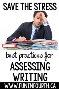 Are you unsure of the best way to assess student writing? It takes time and mental energy to read 30 (or more!) unique pieces of writing. This blog has some of the best practices to streamline the process and hand some of the assessment off to the student. Read on for the methods to best assess student writing at all stages of the process. #FunInFourth #WritingAssessment #WritingStrategies