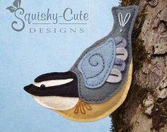 Bluebird Sewing Pattern PDF Backyard Bird by SquishyCuteDesigns