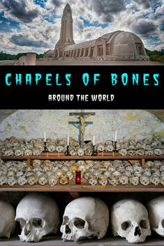 The Chapel of Bones in Evora, Portugal is a macabre ossuary decorated with the bones of humans, one of many bone churches around the world. Portugal Travel, Spain And Portugal, Cool Places To Visit, Places To Go, Travel Around The World, Around The Worlds, Travel Images, Travel Pictures, The Monks