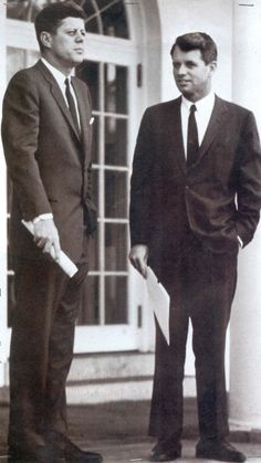 "John F. Kennedy and Robert F. Kennedy.  Even though we are from different parties......I miss them so. ""Camelot"""