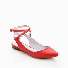 Red Ballet Flats.