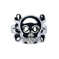 Christian Dior - Tete de Mort White Gold Ring with .12 carat diamond teeth...love this!