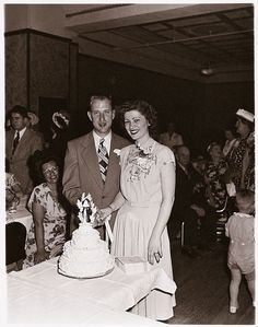 1940s wedding reception (Read this couple's story at Reminisce.com)