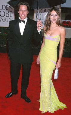 Hugh Grant & Elizabeth Hurley from Golden Globes Couples Over the Years  2000