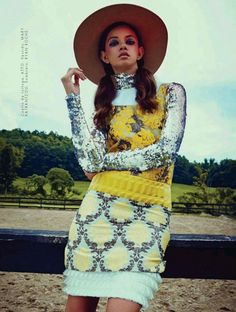 Marina Nery is a psychedelic cowgirl for Elle Mexico October 2015 by Danilo Hess