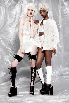 Obscure Rebellion lookbook SS15 collection| Photographer  @danny_baldwin | Stylist Malita Harradine & @xplicit_minni | Hair @jackgallagherhair Mua Jade Davison models @instagirlonfilm & @Michaela Ireland