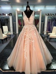 V-neck Appliques Lace Beaded Evening Prom Dresses A Line Tulle Skirt Lewande 11335 Illusion Sleeveless Junior Graduation Gowns