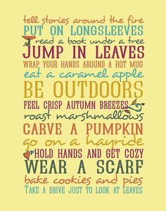 This reminds me of everything I've ever done in autumn, and why I do love it so, so much!