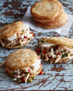 Want a recipe that gets you out of your comfort zone, but will be quickly added to your family's favorite meals? You HAVE to make these Arepas with Poblano Pulled Chicken!