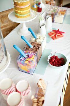 Cool & Beachy Ice Cream Birthday Party // Hostess with the Mostess® Birthday Fun, Birthday Parties, Birthday Ideas, Summer Birthday, Party Summer, Ice Cream Social, Icecream Bar, Ice Cream Party, Party Entertainment
