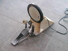 DIY electronic drum kick pedal