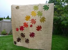 """Modern Maples with """"windy"""" quilting 