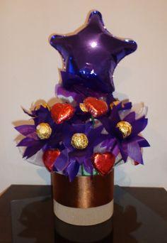 Ramo De Bombones, Chocolate, Flores, Cumpleaños, Regalos - $ 370,00