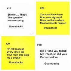 Haha comebacks