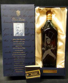 Johnnie Walker Gerald Scarfe Blue Label Scotch Whiskey, Bourbon Whiskey, Johnny Walker Blue Label, Spirit Drink, Hooch, Bottle Packaging, Wine And Beer, Drinking, Alcohol