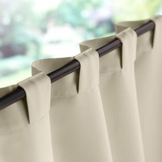 Linen curtains with hidden tab. Linen curtains with hidden tab. No Sew Curtains, Home Curtains, Rod Pocket Curtains, Linen Curtains, Curtains With Blinds, Custom Curtains, Valances, Patchwork Curtains, Kitchen Curtains
