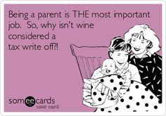 Parental wine?