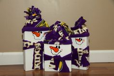 Minnesota Viking Snowmen set of 3 by HentgesCrafts on Etsy
