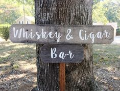 Whiskey & Cigar Bar, Whiskey Bar, Cigar Bar, Rustic Bar Sign, Wedding Bar Sign, Wedding Sign Wood Barn Wood Wedding Sign Rustic Wedding Sign, Man Cave, Woman Cave, Bar, Home Bar