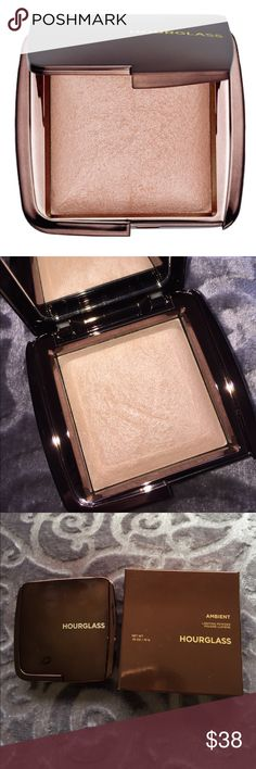 NWT Ambient Hourglass Luminous Lightening Powder Luminous Light: A champagne pearl powder that creates a soft, incandescent candlelit glow—day or night. Create the perfect illumination for your face with Hourglass Ambient® Lighting Powder. Infused with the innovative Photoluminescent Technology, each finishing powder captures, diffuses, and softens the look of the skin. The micron-size, color-correcting particles refract light and create transparent coverage, filtering out harsh light and…