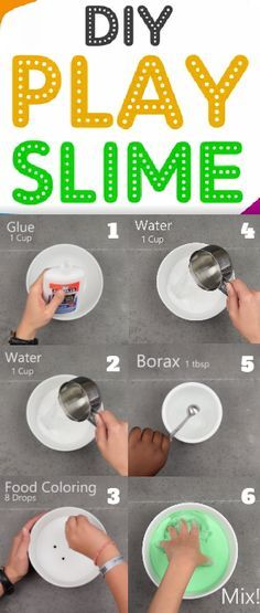 This Play-Time Slime by BabyFirst - This DIY Slime is Ooey-Gooey FUN! Warning: May entertain children for hours! For full instructions check out our blog at: http://www.babyfirstblog.com/diy-play-time-slime-2/ #DIY #Slime #BabyFirst