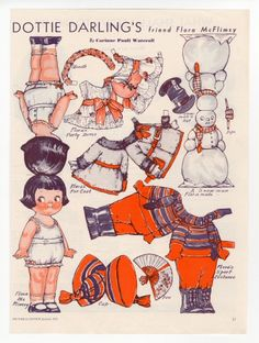 77.224: Dottie Darling's Friend Flora McFlimsy | paper doll | Paper Dolls | Dolls | National Museum of Play Online Collections | The Strong