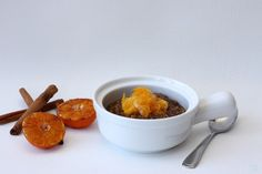 Gingerbread Oatmeal with Clementine Cuties