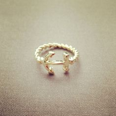 Anchor ring lovely pretty cute adorable jewelry by IMSMI on Etsy, $16.00