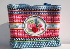 Crochet Panda, Knit Crochet, Crochet Bags, Cross Stitch Patterns, Crochet Patterns, Gift Bags, Cross Stitching, Hippie Boho, Etsy