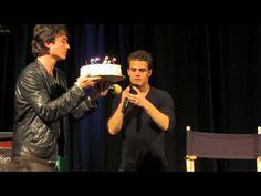 Singing happy birthday to Ian Somerhalder | Orlando, Florida TVD convention