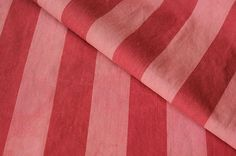 Classic red and pink , Vintage French ticking fabric! Ideal material for many charming home decorating projects ~