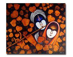 Radha Krishna on Behance Buddha Painting, Krishna Painting, Krishna Art, Krishna Images, Religious Paintings, Indian Art Paintings, Modern Art Paintings, Simple Canvas Paintings, Acrylic Painting Canvas