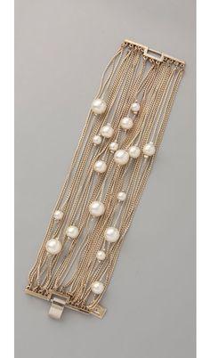 Multi Strand Pearl Bracelet