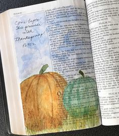 Come with Thanks {Bible Art Journaling} Thanksgiving Clapback, Thanksgiving Nails, Thanksgiving Decorations, Make A Joyful Noise, Great King, Illustrated Faith, Bible Art, Art Pages, Long Weekend