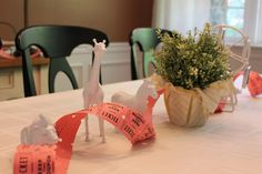 Carnival themed baby shower! cute, love the painted animals
