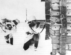 Dutch Waffen SS volunteers in the snow of the Eastern Front.