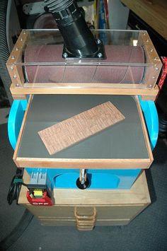 Lixadeira de bancada DIY com operação transparente / Thickness sander
