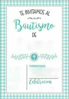 Jeronimo Baptism Invitation For Boys, Baptism Favors, Baptism Invitations, Printable Invitations, Birthday Invitations, William Christopher, Baptism Decorations, Baby Boy Baptism, San Fernando