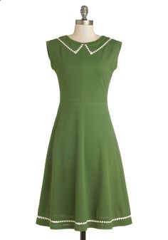 Author Outings Dress in Green By Myrtlewood| Mod Retro Vintage Dresses | ModCloth.com