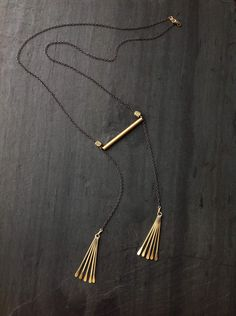 Brass Chestplate, Sirens, by Loop Jewelry, Brass Tassel Necklace, Geometric, Deco, Boho Chic, Folk, Rock n Roll Jewelry, Architectural by LoopHandmadeJewelry on Etsy https://www.etsy.com/listing/513390319/brass-chestplate-sirens-by-loop-jewelry