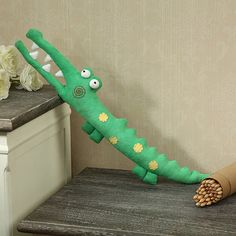 Crocodile Toy PDF Pattern Download Baby Toys Cute Crocodile Pattern Tutorial Sewing Pattern, Animal Plush Stuffed, sewing instruction