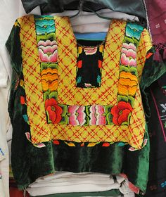 Oaxca Textiles -  The state of Oaxaca in southern Mexico has a noteworthy tradition of finely crafted textiles, particularly handmade embroidery and woven goods that frequently utilize a backstrap loom. Oaxaca is home to several different groups of indigenous peoples, each of which has a distinctive textile tradition