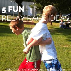 5 fun relay race ideas for your next youth or family gathering, camp pack relay? Relay Race Games, Kids Relay Races, Relay Games For Kids, Youth Group Games, Relay Race Ideas, Racing Games For Kids, Large Group Games, Field Day Activities, Field Day Games
