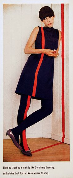 Slip-top wool with Matching Leggings  Peggy Moffitt, fashion by Rudi Gernreich, 1965