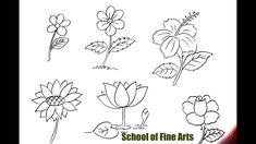 drawing easy flower quick drawings fast very cat flowers sroksrear